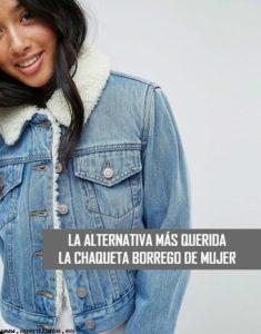 nueva colección donde puedo comprar tienda de liquidación Chaqueta Vaquera Borrego de mujer: Versátil y atemporal ...