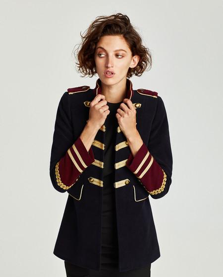 chaqueta zara militar mujer