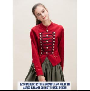 18beda58aeb5 Las Chaquetas estilo Almirante para mujer  un abrigo elegante que te ...